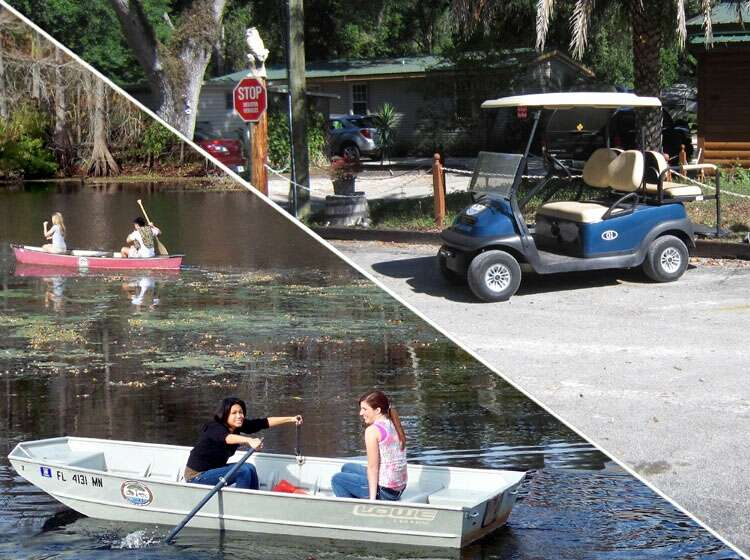Free Canoes and Kayaks, and Golf Cart and Boat Rental at the ... on golf car boat, shoes boat, golf carts pull type,