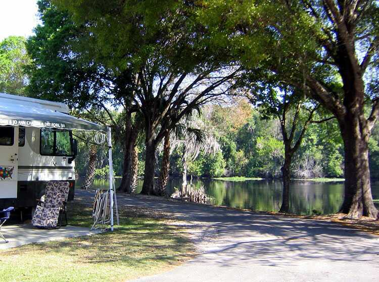 Central Florida RV Park And Resort, Tent Camping And Fishing At Riverside  Lodge Waterfront Campground