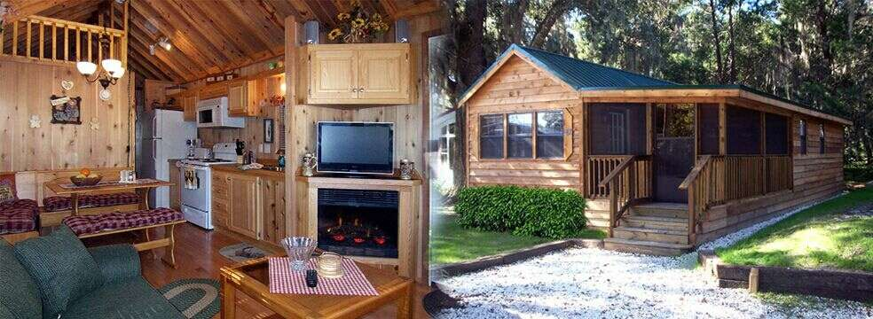 Florida cabin rental and vacation rentals at the central Campground cabin rentals